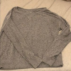 Grey off shoulder pacsun sweatshirt pullover